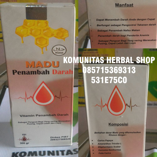 manfaat-herbal-madu-penambah-darah