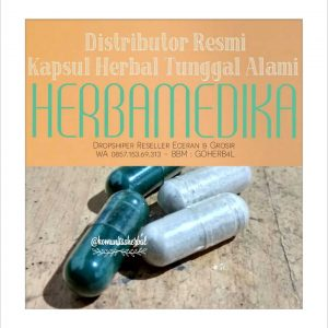 distributor resmi kapsul herbal tunggal alami herba medika